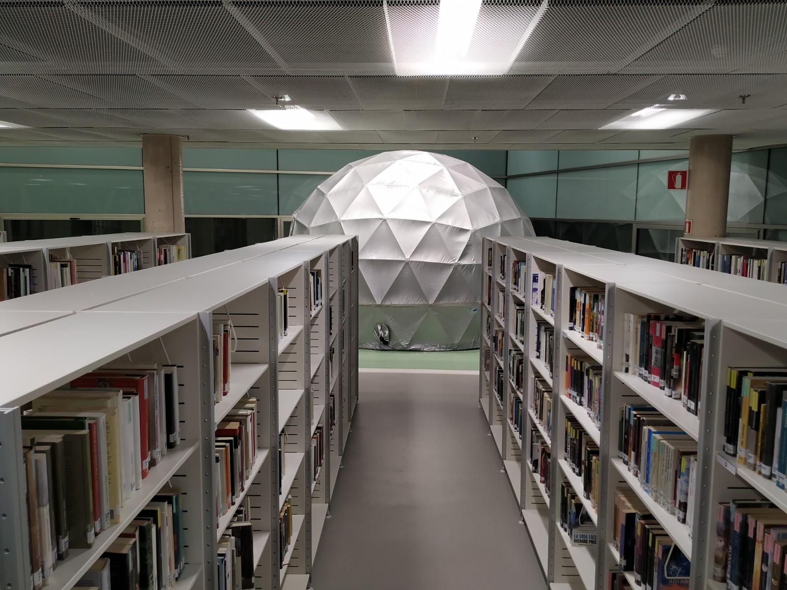 Fulldome en la biblioteca Pública de Burgos
