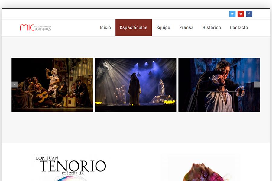Web Mic producciones teatrales